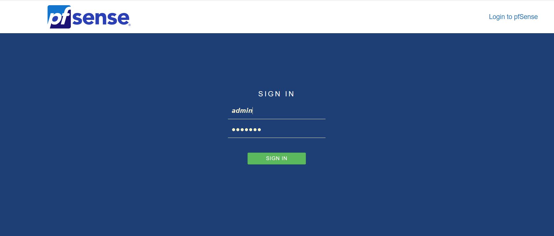 pfSense web application